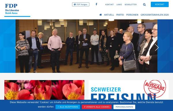 Vorschau von www.fdp-bezirk-aarau.ch, FDP Bezirk Aarau