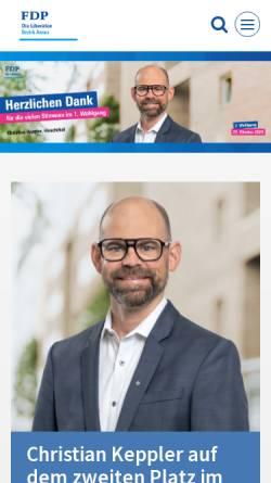 Vorschau der mobilen Webseite www.fdp-bezirk-aarau.ch, FDP Bezirk Aarau
