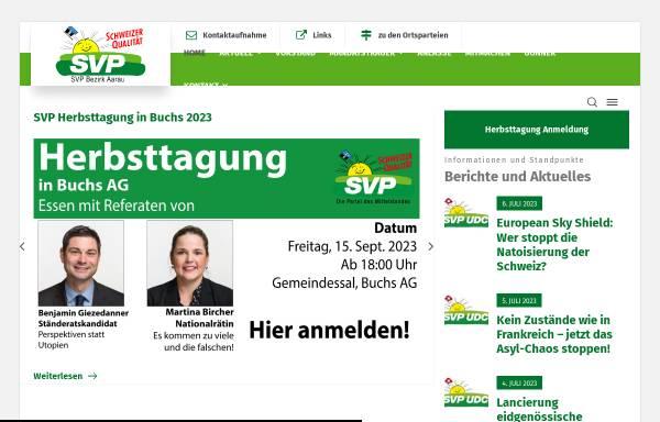 Vorschau von www.svp-bezirk-aarau.ch, SVP Bezirk Aarau