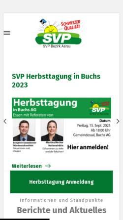 Vorschau der mobilen Webseite www.svp-bezirk-aarau.ch, SVP Bezirk Aarau