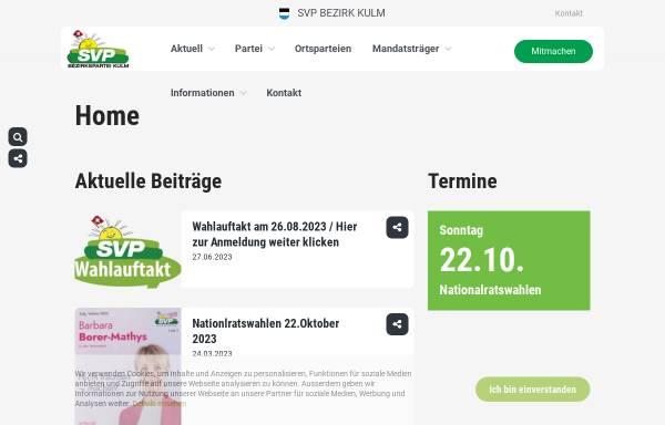 Vorschau von www.svp-kulm.ch, SVP Bezirk Kulm