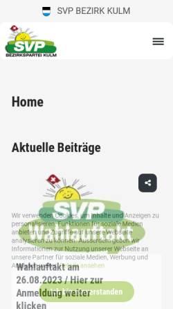 Vorschau der mobilen Webseite www.svp-kulm.ch, SVP Bezirk Kulm