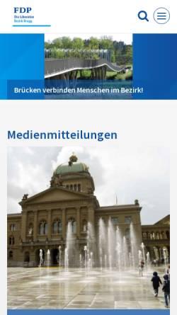 Vorschau der mobilen Webseite www.fdp-bezirk-brugg.ch, FDP Bezirk Brugg