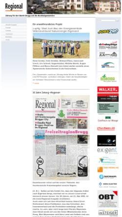Vorschau der mobilen Webseite www.regional-brugg.ch, Regional (Brugg)