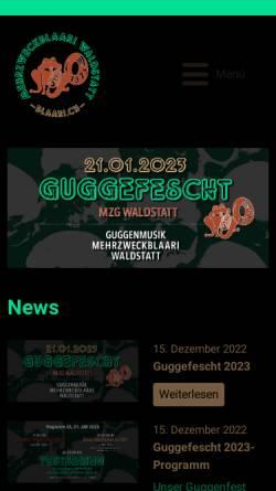 Vorschau der mobilen Webseite www.blaari.ch, Guggenmusik Mehrzweckblaari