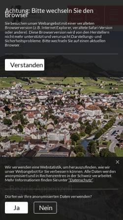 Vorschau der mobilen Webseite www.appenzell.org, Bezirk Appenzell, offizielle Seite