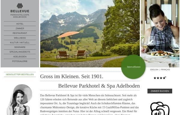 Vorschau von www.parkhotel-bellevue.ch, Parkhotel Bellevue & Spa: Wanderferien und Wellness in den Berner Alpen