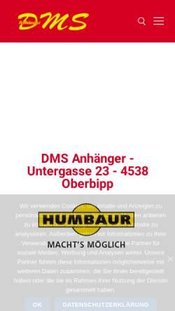 Vorschau der mobilen Webseite www.dmsanhaenger.ch, DMS Anhänger