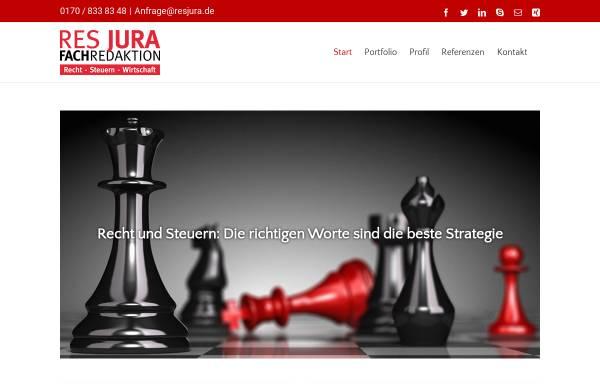 Vorschau von www.resjura.de, RES JURA Redaktionsbüro - Inh. Viola C. Didier
