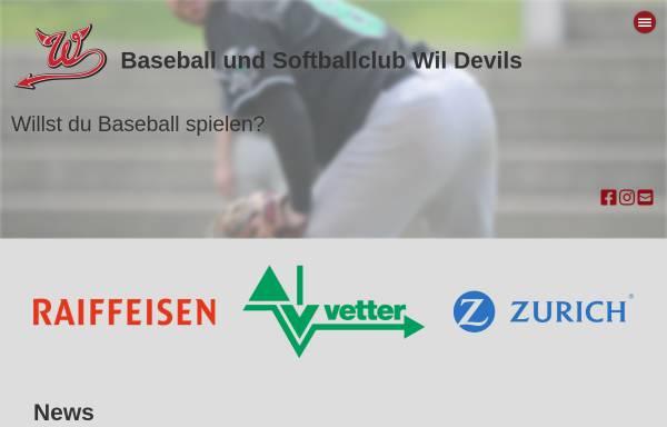 Vorschau von www.wildevils.ch, Baseball-Club Wil Devils