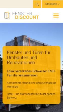 Vorschau der mobilen Webseite www.fenster-discount.ch, Fenster-Discount.ch, Multiservice Dienstleistungs GmbH
