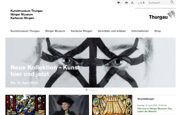 Vorschau von www.kunstmuseum.ch, Kunstmuseum des Kantons Thurgau