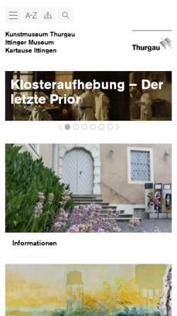 Vorschau der mobilen Webseite www.kunstmuseum.ch, Kunstmuseum des Kantons Thurgau