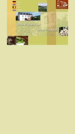 Vorschau der mobilen Webseite www.alte-pflasterei.de, Alte Pflasterei