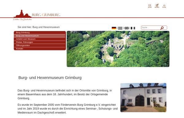 Vorschau von burg-und-hexenmuseum.de, Burg- und Hexenmuseum Grimburg