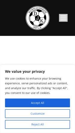 Vorschau der mobilen Webseite djk-pluwig-gusterath.de, DJK Pluwig/Gusterath 1925 e.V.