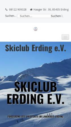 Vorschau der mobilen Webseite www.skiclub-erding.de, Skiclub Erding e.V.