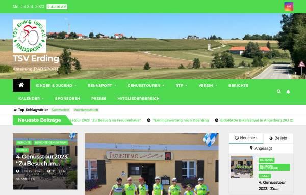 Vorschau von erding-radsport.de, TSV Erding 1862 e.V. - Abteilung Radsport