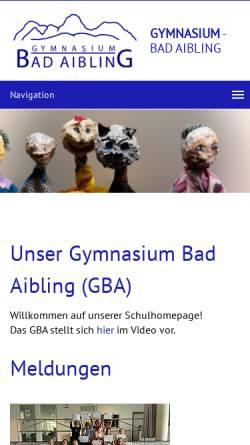 Vorschau der mobilen Webseite www.gymnasium-bad-aibling.de, Gymnasium Bad Aibling