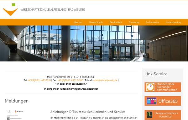 Vorschau von www.wsalp.de, Wirtschaftsschule Alpenland