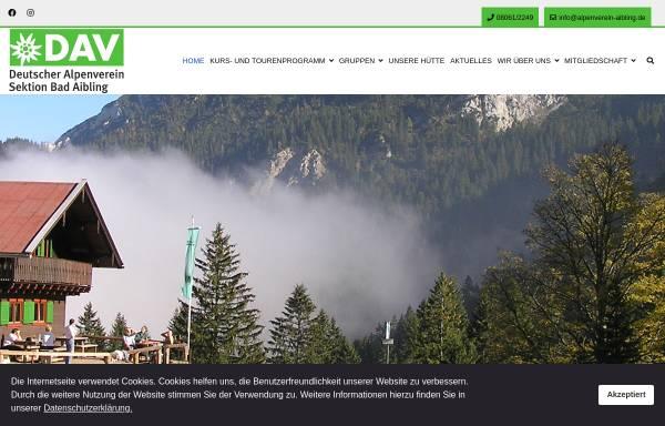 Vorschau von www.alpenverein-aibling.de, Alpenverein Bad Aibling