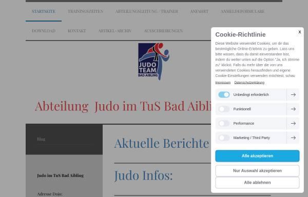 Vorschau von www.judo-bad-aibling.de, Judo: TuS Bad Aibling