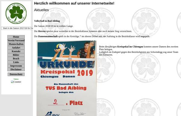 Vorschau von hot-volley-aibling.de, Volleyball: TuS Bad Aibling