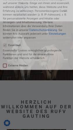 Vorschau der mobilen Webseite www.rufv-gauting.de, Reit- und Fahrverein Gauting e.V.