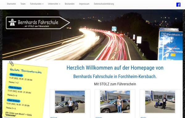 Vorschau von www.bernhards-fahrschule.de, Bernhards Fahrschule