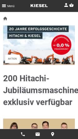 Vorschau der mobilen Webseite www.kiesel.net, Reif Baumaschinen Himmelkron