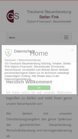 Vorschau der mobilen Webseite www.gs-treuhand.de, GS Treuhand GmbH