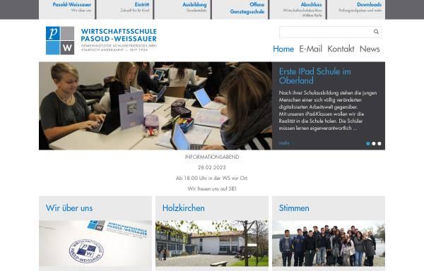 Vorschau von www.pasold-weissauer.de, Wirtschaftsschule Pasold Weissauer