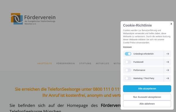 Vorschau von www.sorgen-teilen-muenchen.de, Evangelische Telefon-Seelsorge München
