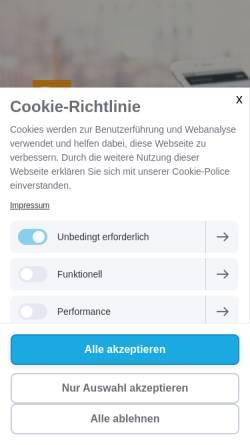 Vorschau der mobilen Webseite www.sorgen-teilen-muenchen.de, Evangelische Telefon-Seelsorge München