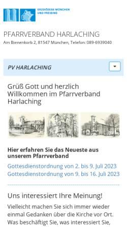 Vorschau der mobilen Webseite www.hl-familie.de, Pfarrei Heilige Familie