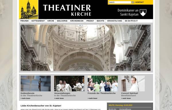 Vorschau von www.theatinerkirche.de, Theatinerkirche