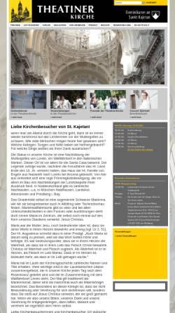 Vorschau der mobilen Webseite www.theatinerkirche.de, Theatinerkirche