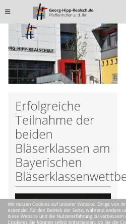 Vorschau der mobilen Webseite www.georg-hipp-realschule.de, Georg Hipp Realschule