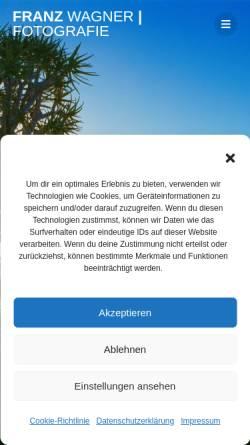 Vorschau der mobilen Webseite www.fotografie-franz-wagner.de, Atelier für Fotografie Franz Wagner