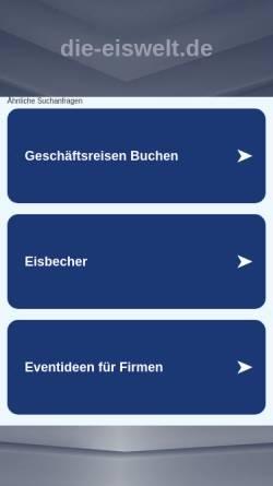 Vorschau der mobilen Webseite www.die-eiswelt.de, Die Eiswelt