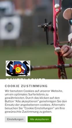 Vorschau der mobilen Webseite www.bogen-sbs.de, Sauerlacher Bogenschützen e.V.