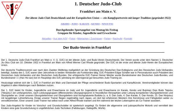 Vorschau von www.1djc.de, 1. Deutscher Judo-Club e.V. Frankfurt am Main