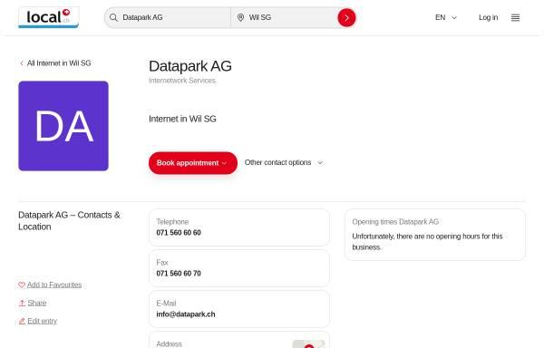 Vorschau von yellow.local.ch, Datapark AG