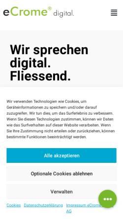 Vorschau der mobilen Webseite www.dotcom.ch, Dotcom Systems GmbH