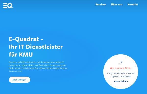 Vorschau von www.e-quadrat.ch, E-Quadrat GmbH