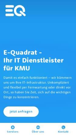 Vorschau der mobilen Webseite www.e-quadrat.ch, E-Quadrat GmbH