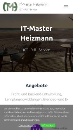 Vorschau der mobilen Webseite www.it-master.ch, It Master