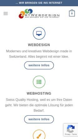 Vorschau der mobilen Webseite www.rtwebdesign.ch, RtWebdesign