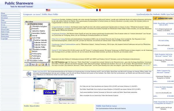 Vorschau von www.publicshareware.de, Public Shareware