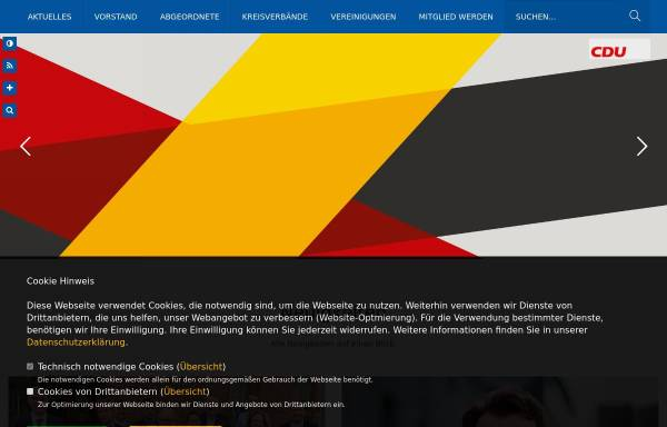 Vorschau von www.cduowl.de, CDU Bezirksverband Ostwestfalen-Lippe